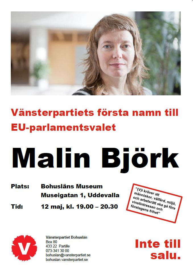 Malin Björk 12 maj